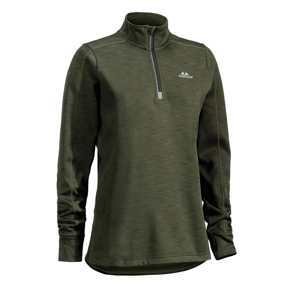 Damenfleecesweater Ultra light 1/2 Zip grün