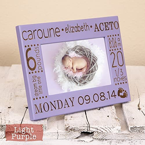 Amazon baby girl birth announcement frame personalized with baby girl birth announcement frame personalized with baby name stats birth information color negle Choice Image