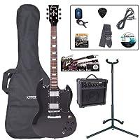 Encore EBP-E69BLK Elec. Guitar Outfit - Gloss Black