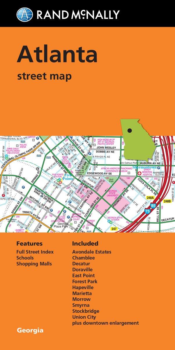 Rand McNally Atlanta Street Map