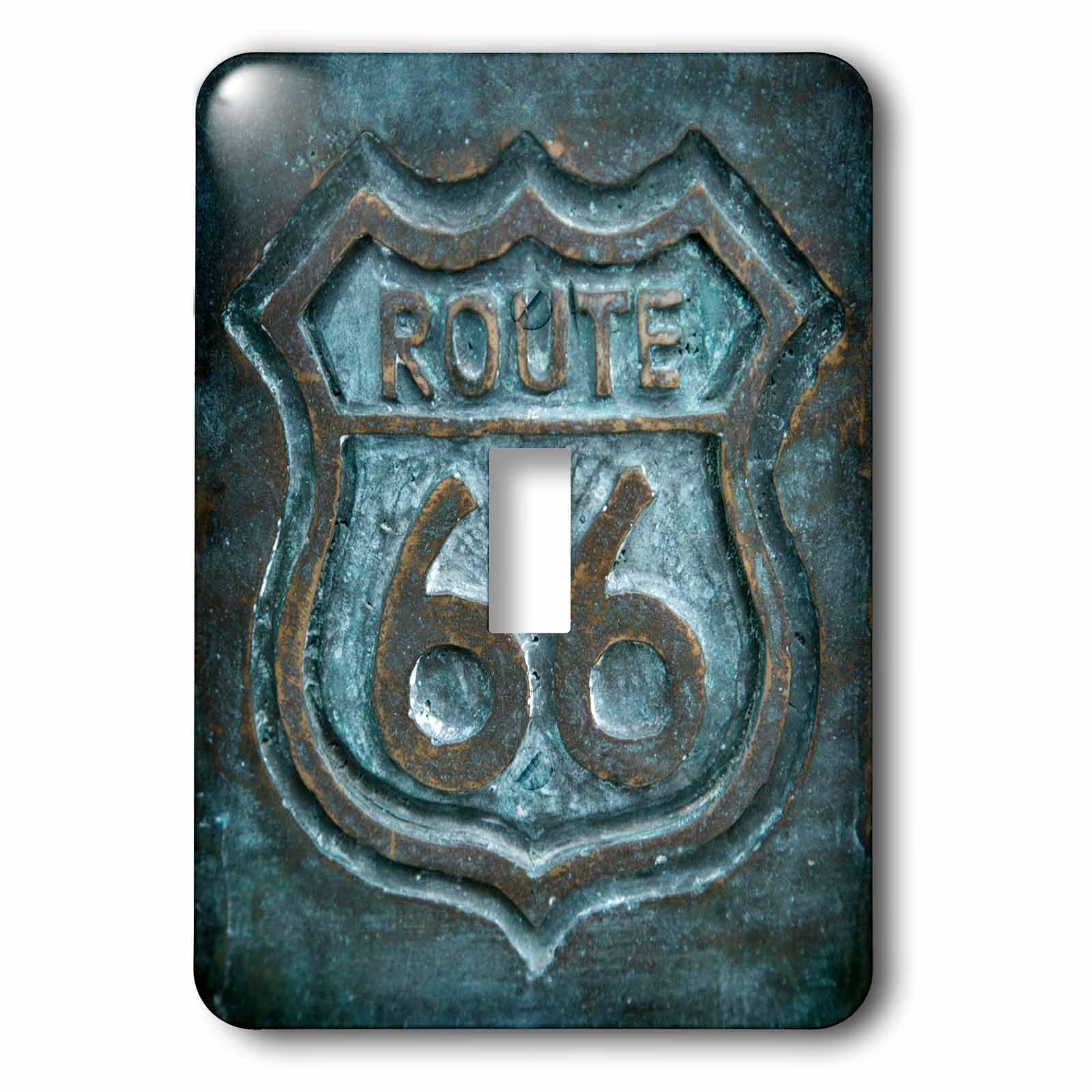 3dRose lsp_230770_1 Joliet, Illinois, USA. Route 66 Sign. Single Toggle Switch by 3dRose