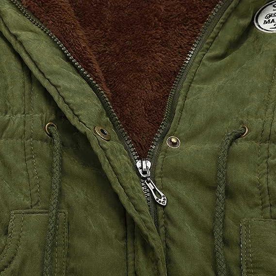 Amazon.com: OWMEOT Winter Women Warm Long Coat Fur Collar Hooded Parka Outwear: Clothing