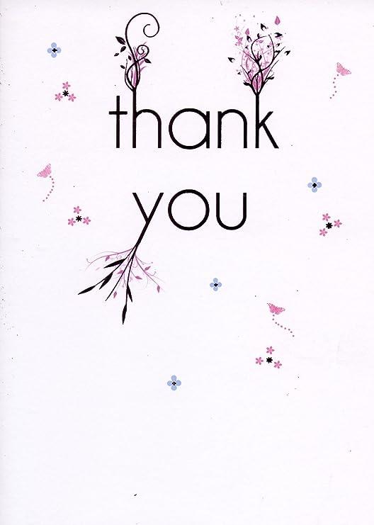 Pack de 6 - tarjetas de agradecimiento - acabado con papel ...