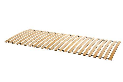 Naturamio - Somier Enrollable (24 Listones de Madera de Abedul, tamaño 140 x 200 cm (2 x 70 cm), Madera, 140 x 200 cm