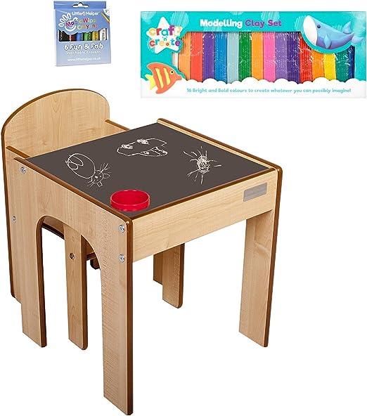 Little Helper - Mueble 3 en 1 Escritorio y Banco Infantil (con ...