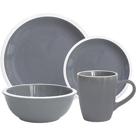Amazon.com: Mainstays Hadleigh 16-Piece Dinnerware Set ...
