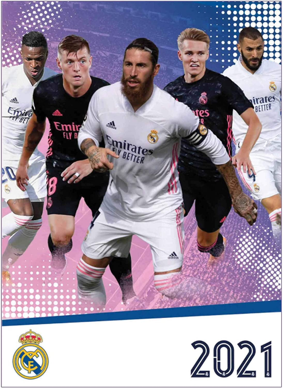 Real Madrid Official 2021 Soccer Calendar A3