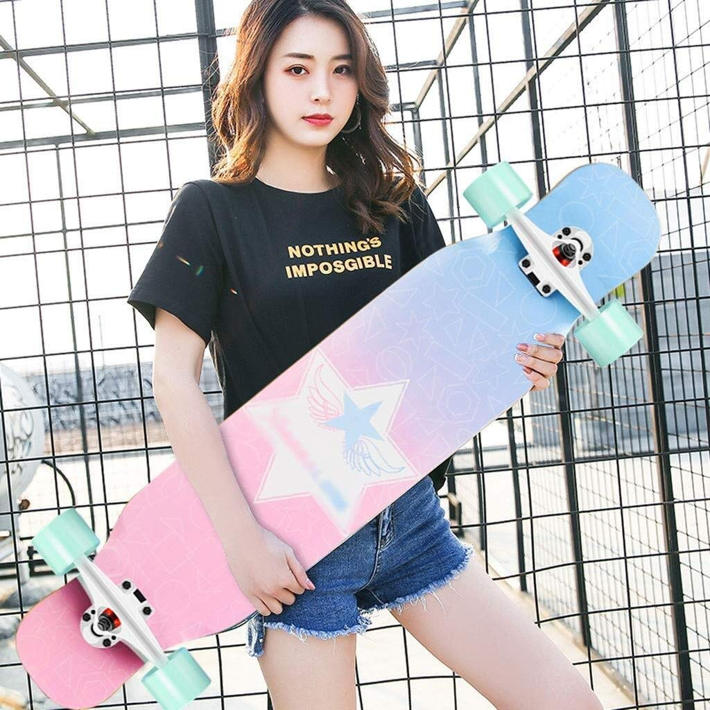 ASDFNF Roller Ahorn Longboard Junge M/ädchen Pinsel Street Dance Board Anf/änger Erwachsene Teen Allrad Skateboard Skateboards Color : A