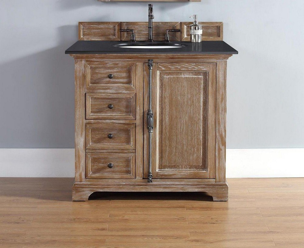 36 in. Single Vanity Cabinet in Driftwood