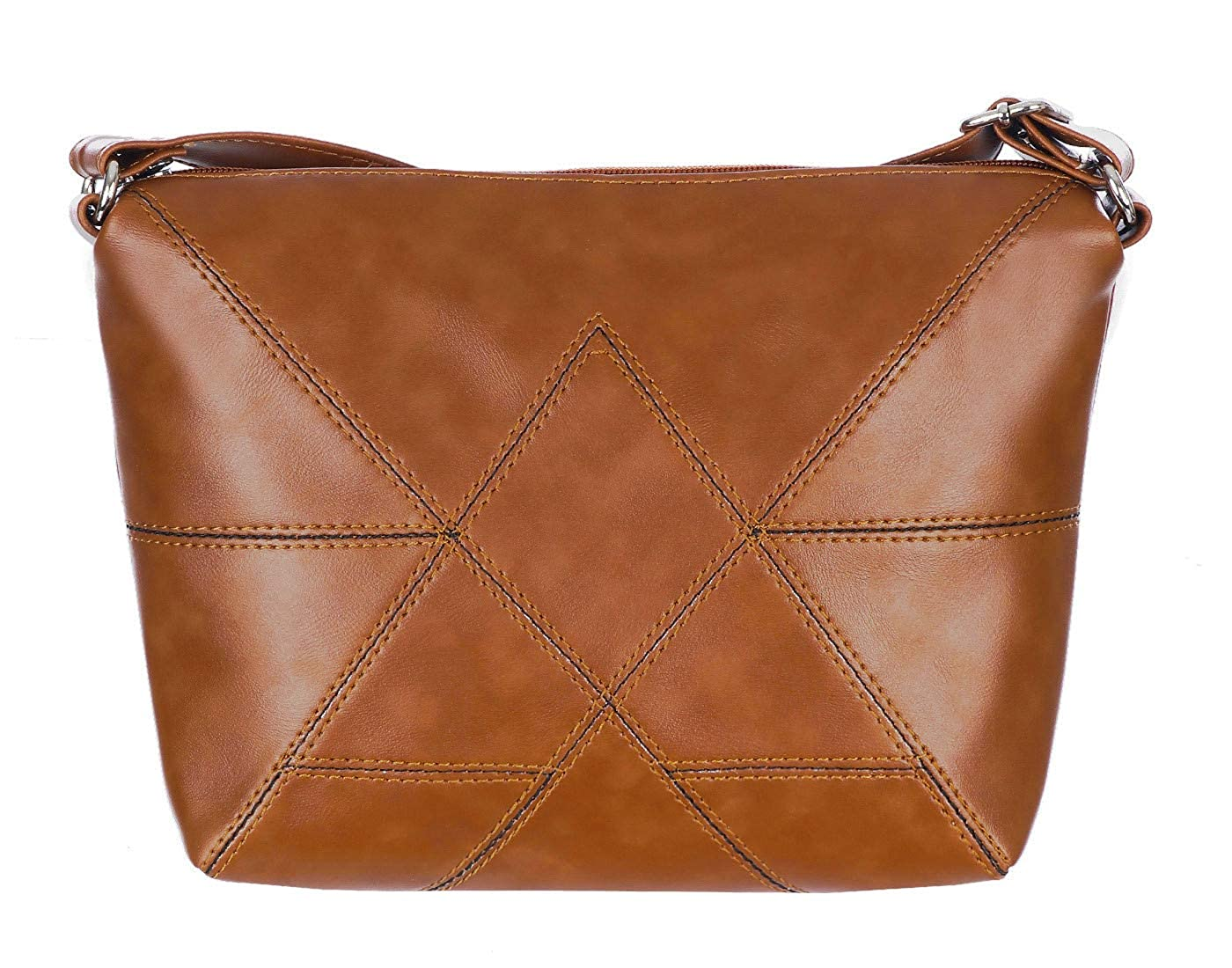 Generic Women's Leather Sling Bag (Tan, slg_90)