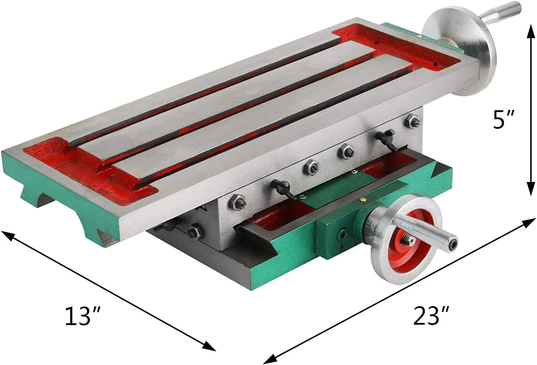 VEVOR Cruz Fresadora Compuesto 2 Ejes 4 Formas Mesa de Trabajo Multifuncional 450X170mm 30KG Mesa de Fresado Deslizante para Todos los Soportes de Perforaci/ón Fresadora de Banco
