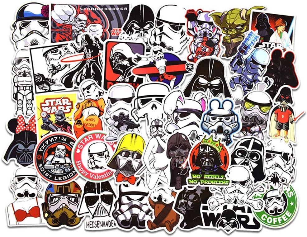 TOPWINRR 50pcs Graffiti Stickers Star Wars Cartoon Waterproof for DIY Laptop Macbook Car Motorcycle Bicycle Luggage Skateboard