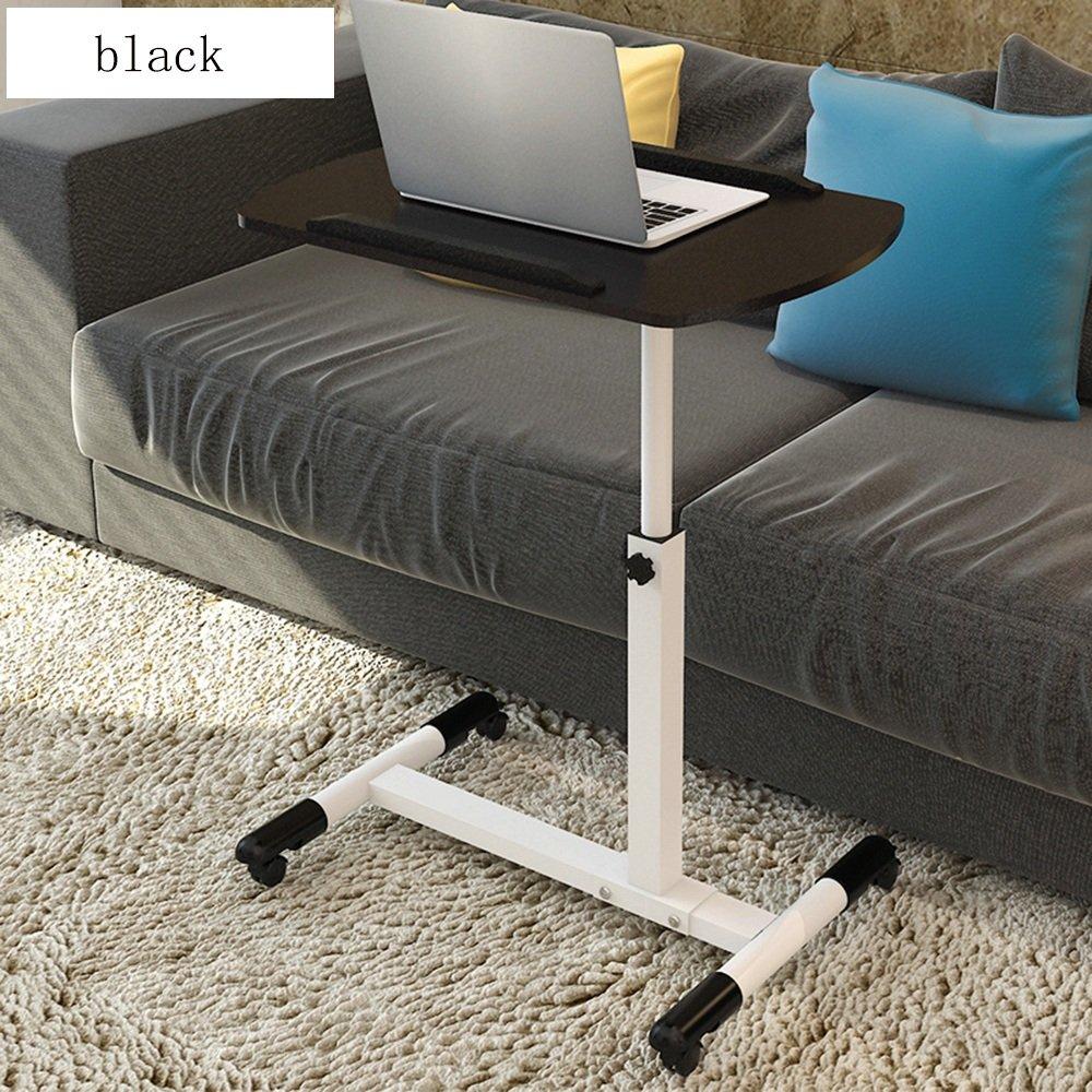 FEIFEI 高品質モバイルノートパソコンスタンドデスク調節可能な高さ65-97センチメートル4キャスター(ロック装置付き)ピンク、黒、白 ( 色 : ブラック ) B07CKNMN6Y ブラック ブラック