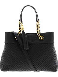 Amazon.com  Tory Burch Women s Fleming Distressed Leather Tote ... c145bd009387d