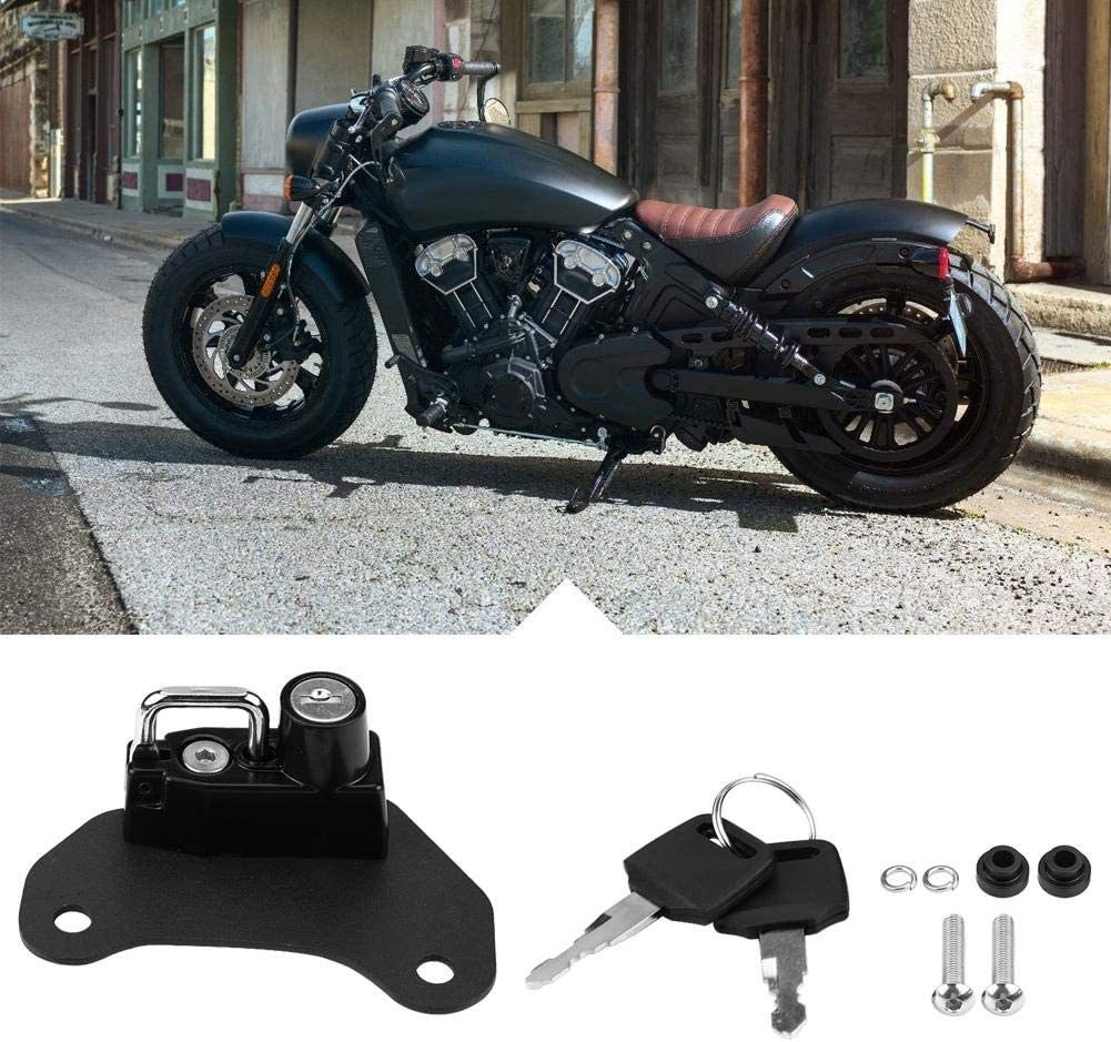 Motorrad Helmschloss /& Kabel Motorrad Helmschloss Haken f/ür Indian Sixty 2015-2018