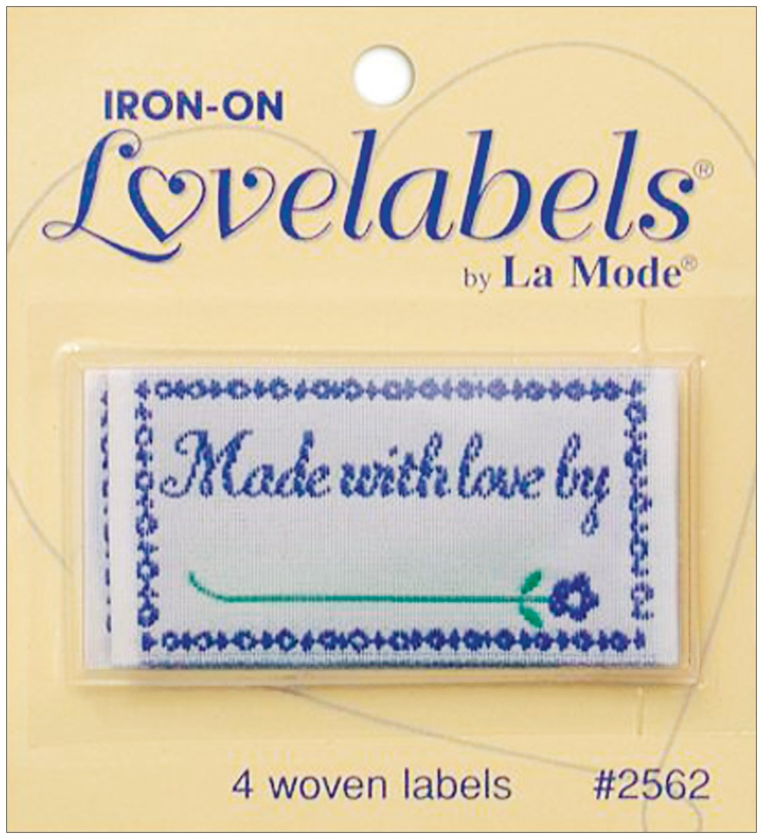 Dritz 3242 Sew-In Embroidered Label 9-Count Handmade Design