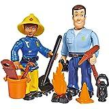 Simba 109251026 - Feuerwehrmann Sam Figuren Doppelpack II, 4-sortiert