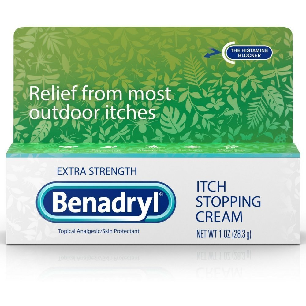 Benadryl Itch Stopping Cream Extra Strength 1 oz (Pack of 8) by Benadryl