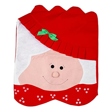 Amazon PPARTY Mr Mrs Santa Claus Christmas Kitchen Chair Covers Cute Design Unique For Holiday Party2 Of Pack Health Personal Care