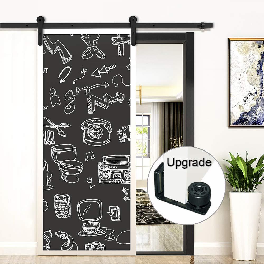 182CM//6FT puertas acero puerta corrediza de granero Hardware Herraje para Puerta de Granero Corredera de