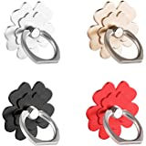 (4 pcs) Cell Phone Flower Ring Holder,Flower Phone Ring Kickstand,Universal 360 Rotation Cell Phone Finger Ring Grip For Iphone,Galaxy And Almost All Phones/Pad(4 Color Flower)