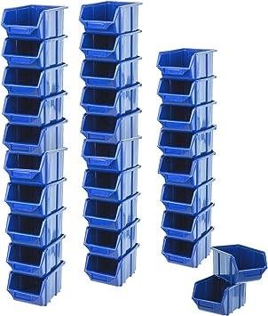 30 Cajas apilables Cajas Visión Almacenamiento Caja Plástico PP ...