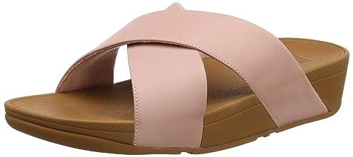 f170dd13a9b330 Fitflop Women s Lulu Cross Slide Sandals - Leather Open Toe  Amazon ...