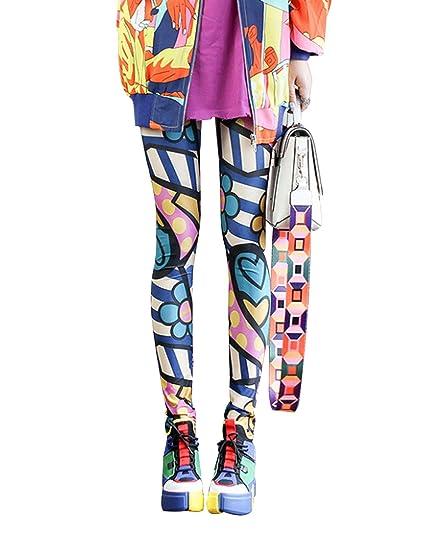 Jueshanzj - Leggings de Camuflaje Estampados para Mujer