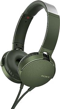 Sony MDR-XB550APG Auriculares de Diadema Extra Bass (Micrófono Integrado Compatible con Smartphones, Diadema Metálica Adaptable), Color Verde, Talla Única: Amazon.es: Electrónica