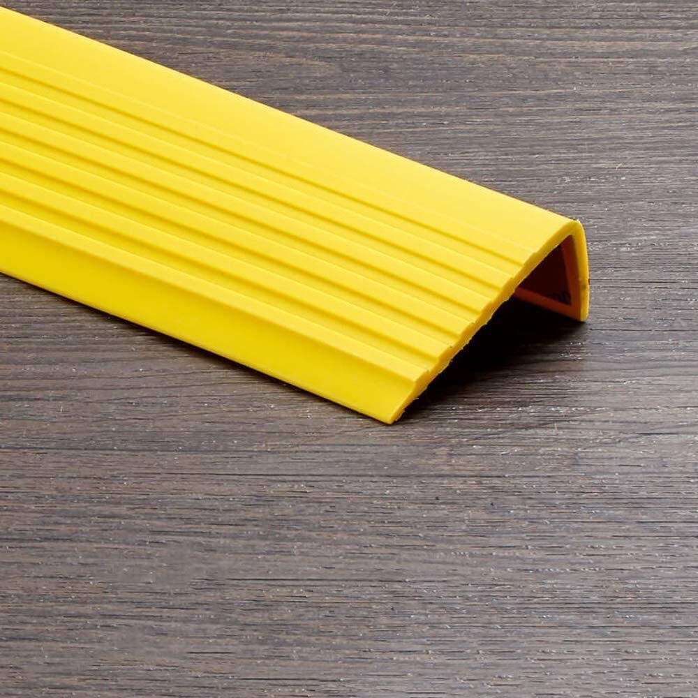 Mamperlán - Anti antideslizante escalera Edge Nosing Recorte autoadhesivo escalera ribete huella de peldaño Nosing PVC ribete de cinta impermeable y antideslizante para escaleras (1m): Amazon.es: Bricolaje y herramientas