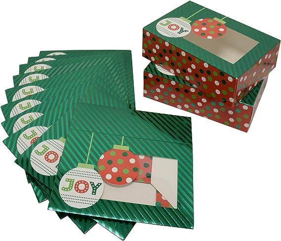 rectangulares Juego de 3 cajas de metal para galletas dise/ño de rombos 9 12 cm
