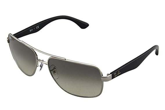 2358ca3cd1 Image Unavailable. Image not available for. Color  Ray-Ban RB3483 - 003 32  Sunglasses Silver ...