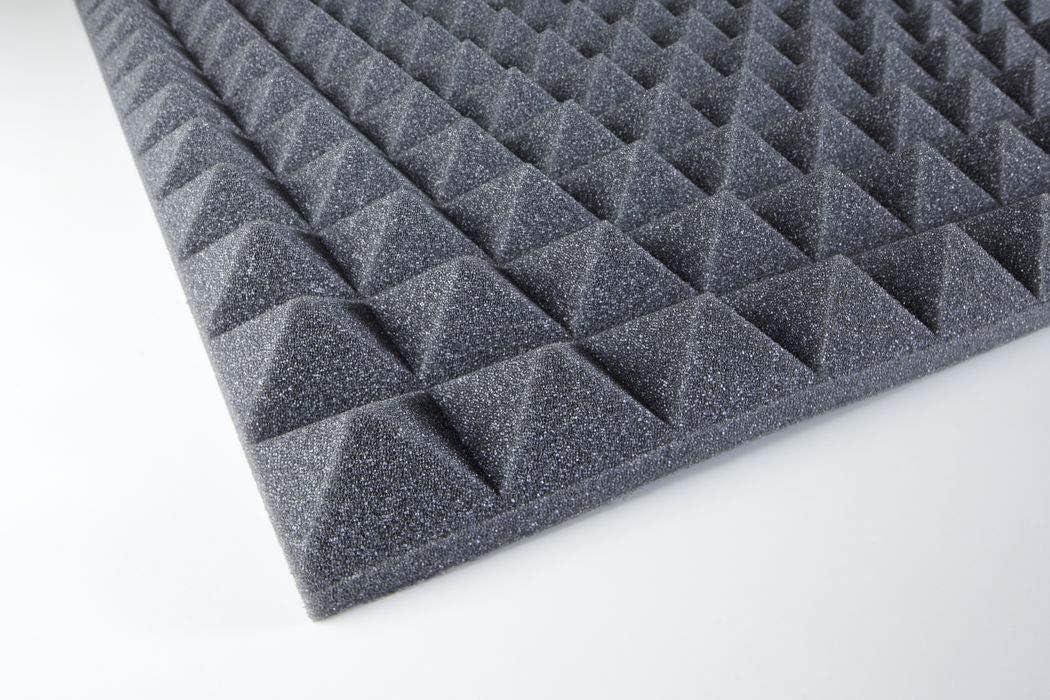 Pyramidenschaumstoff Paneel 30mm Anthrazit 100x50x3 cm 0,5m2