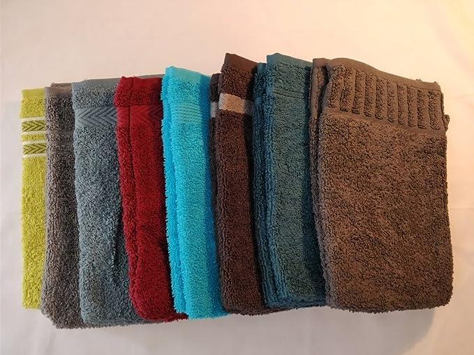 Vandenhove - Juego de toallas de mano, 100% algodón, 100% algodón, multicolor, Lot de 10: Amazon.es: Hogar