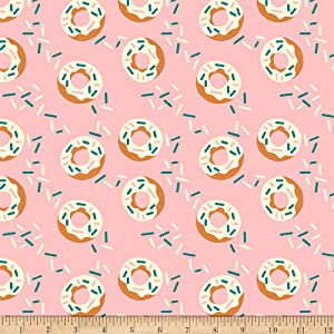 Fabri-Quilt Studios Food Truck Donuts Pink, Fabric by the Yard