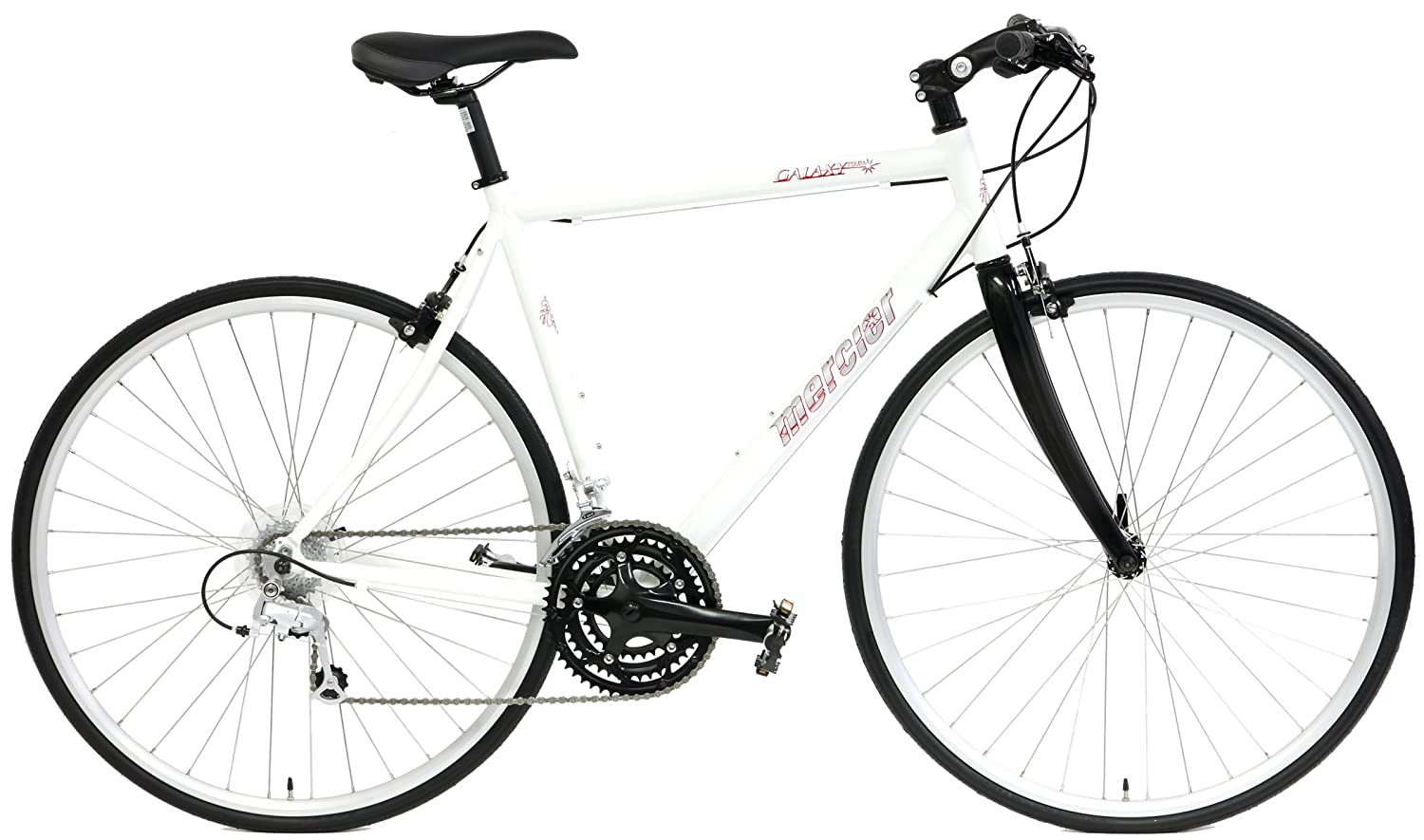 Mercier Galaxy Tour Hybrid 700c Comfort Bike Shimano 24 Speed with Flat Bars and Carbon Fiber Fork