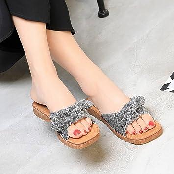TYERY Zapatillas para Mujer Zapatillas de Playa Planas Sandalias Gruesas de Suela a Juego Zapatillas Embarazadas