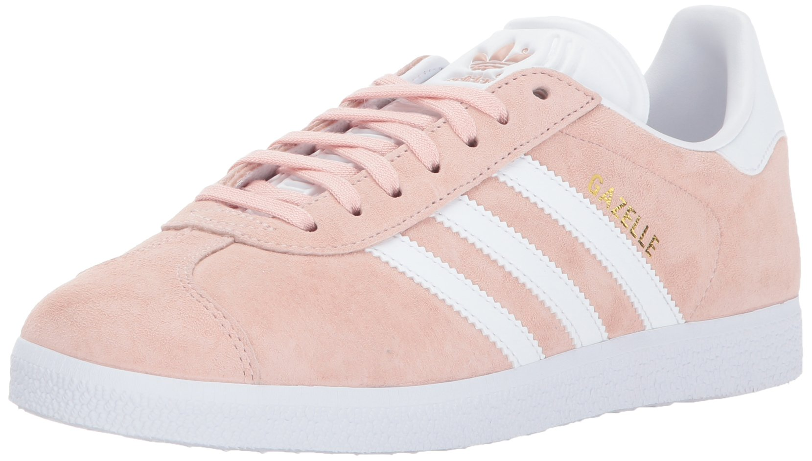 adidas Originals Women's Shoes | Gazelle Sneakers, Vapour Pink/White/Metallic Gold, (7 M US)
