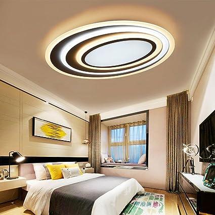 58W LED Rund Klassisch Kreativ Deckenleuchte Modern Einfach Metall Deckenleuchte Dumm Weiß Wohnzimmer Studie Art Eleganter Decke Beleuchtung