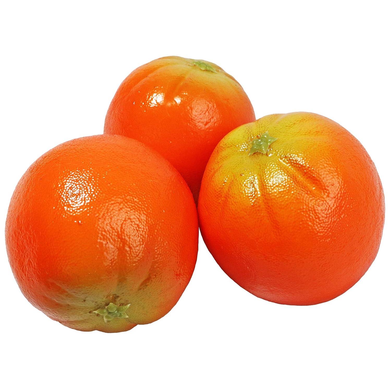 Millennial Essentials Fake Fruit Artificial Realistic Lifelike Decorative Foam Fruits & Vegetables for Hand Made Home, Kitchen, Party Decor (6pcs Oranges)