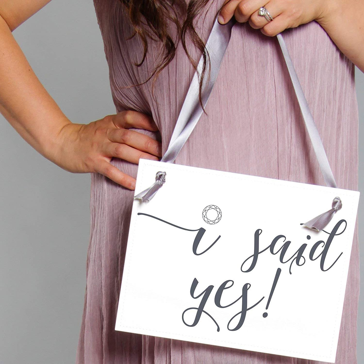 Engagement Announcement Proposal Prop I Said Yes Sign