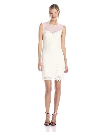 Amazon.com: Nicole Miller Women's Harlow Stretch Lace Dress: Clothing