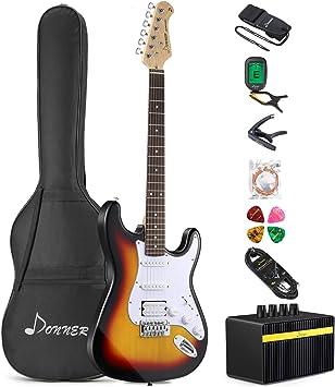Amazon.com: Donner paquete de guitarra eléctrica: Musical ...