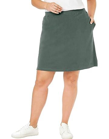 d29939bda6e32f Woman Within Women's Plus Size Stretch Cotton Skort