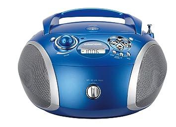 Grundig rcd 1445 radio usb 2.0 mit cd mp3 wma wiedergabe blau