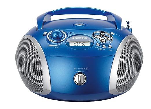 99 opinioni per Grundig 1445 Radio CD USB Mp3, Blu/Argento