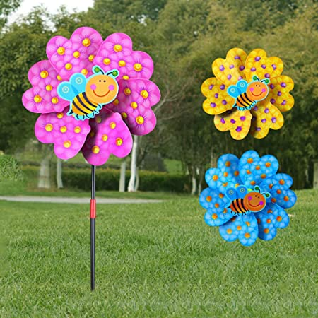 XTYaa Molino de viento de dibujos animados para decoración del hogar, jardín, patio, juguete para el aire libre: Amazon.es: Hogar