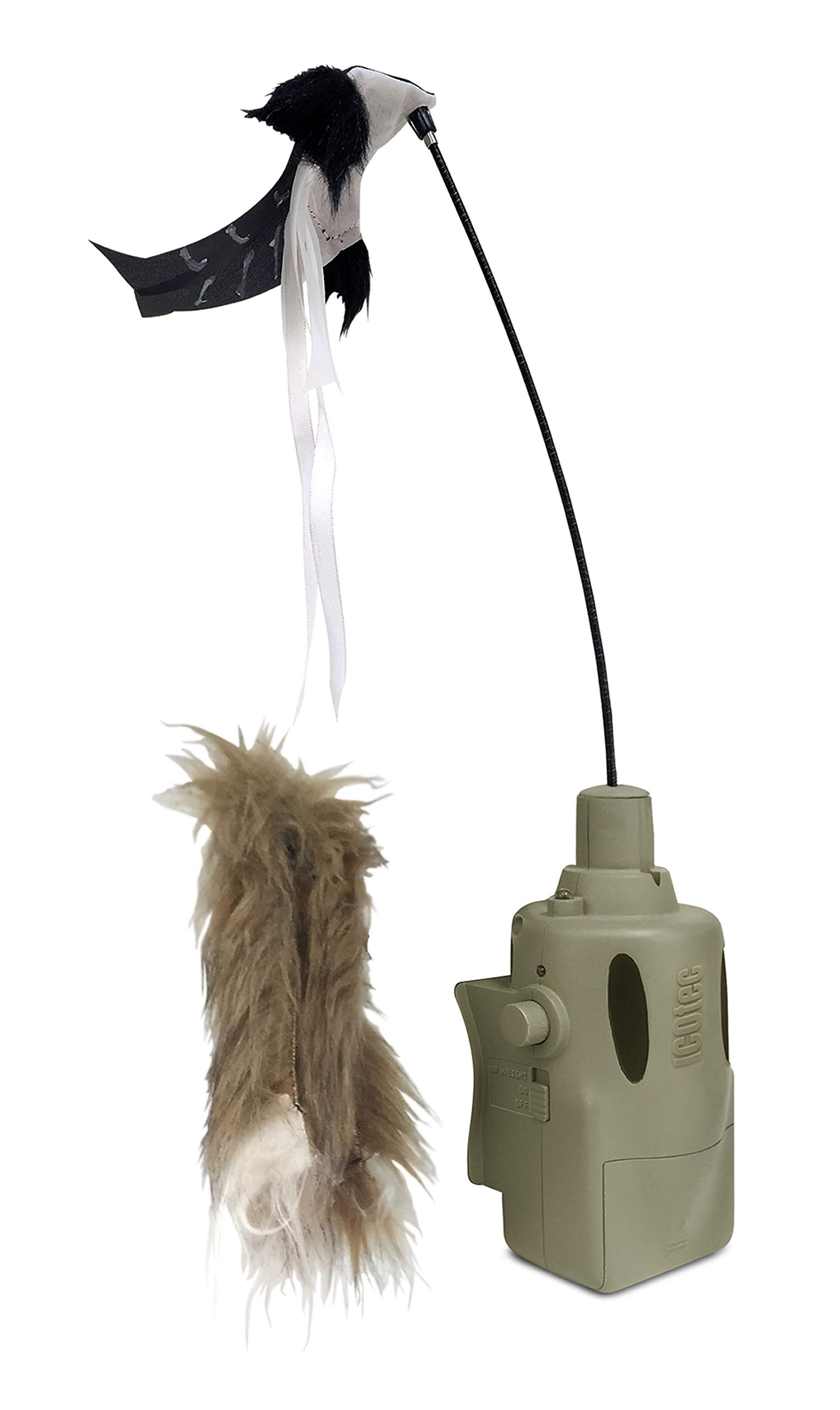 Icotec PD400 Predator Decoy - Lightweight, Compact, and Quiet - Includes Speed Dial, Intermittent Motion, LED Lights, 2 Quick Change Toppers - for Use GC300, GC320, GC350 and GC500