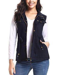 fdde1aaba4108 iClosam Women Lightweight Anorak Vest Military Utility Sleeveless Jacket  Vest