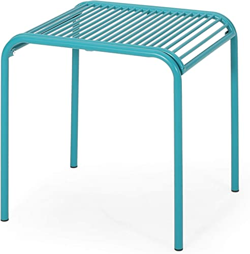 Samantha Outdoor Modern Iron Side Table